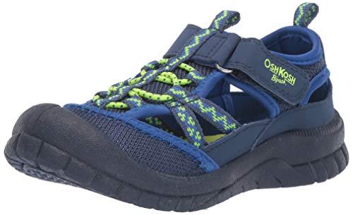 OshKosh B'Gosh BAX Boy's Athletic Bumptoe Sandal, neon 12 M US Little Kid from OshKosh B'Gosh