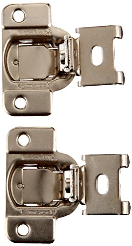 Amerock BP2811J23 14 1/2 Inch Overlay 2 Way Adjustable Concealed Matrix  Blum Hinges, Nickel, 1 Pair