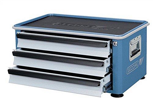 Werkzeugtruhe 3Schubladen Aufsatztruhe GEDORIT blau/Schubladen silber