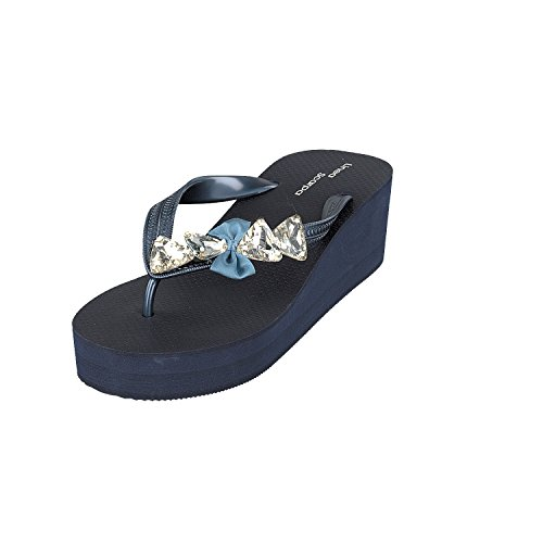 Siebi'sPescara Mujer Azul de Pantuflas caña alta Zfw08Afqc
