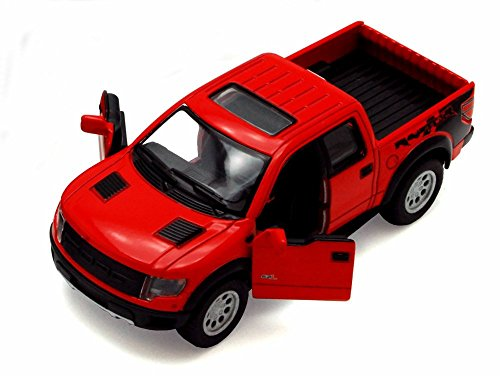 Svt Ford F150 Collectibles (2013 Ford F-150 SVT Raptor SuperCrew Pickup Truck, Red - Kinsmart 5365D - 1/46 scale Diecast Model Toy Car (Brand New, but NO BOX))