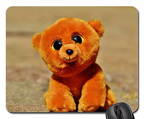 Mouse Pads - Teddy Bear Glitter Eyes Stuffed Animal Soft Toy 1