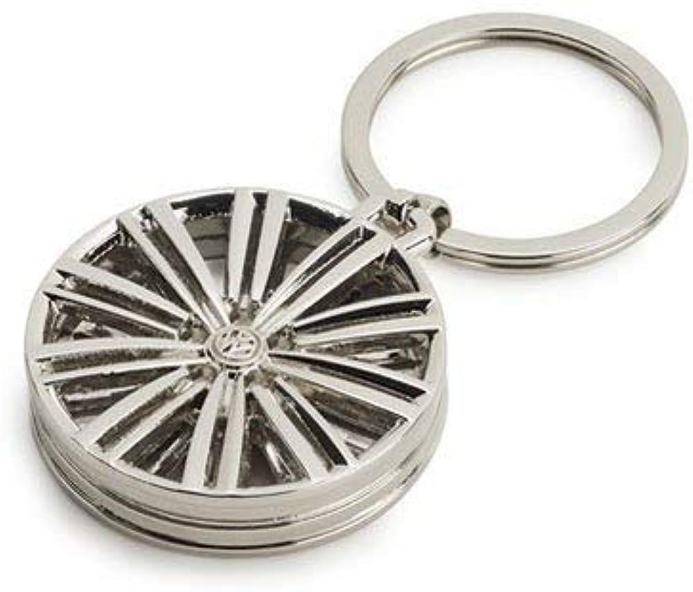 Volkswagen 33d087010 Schlüsselanhänger Felge Luxor Original Vw Anhänger Keyring Silber Bekleidung