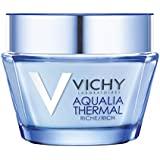 Vichy Aqualia Thermal Rich Cream Face Moisturizer for Dry Skin with Hyaluronic Acid, 1.69 Fl. Oz
