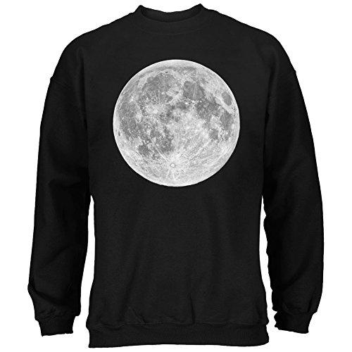Earth's Moon Black Adult Sweatshirt - (Moon Adult Sweatshirt)