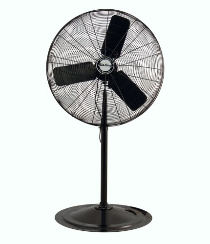 20' Commercial Floor Fan - Air King 9130 30-Inch 1/4-Horsepower Industrial Grade Pedestal Fan with 7,400-CFM, Black Finish