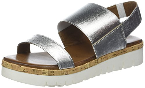 Inuovo Women's 8980 Sling Back Sandals Silver (Silver 16778935) bAc251