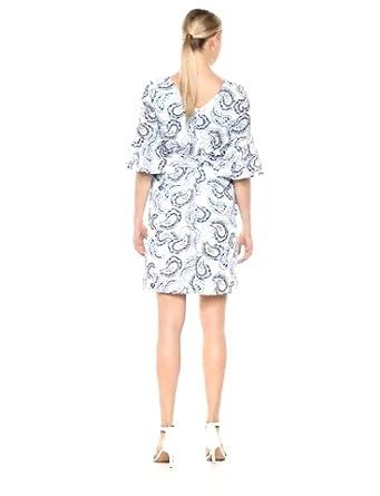 NINE WEST Women's Bell Sleeve V-Back Dress