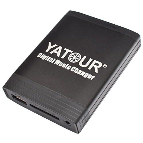 Yatour Adaptateur USB SD AUX et MP3 pour Toyota Avensis T22 modèles 1998-2003, Celica modèles 1998-2003, Corolla 110/120 modèles jusqu'à 2003, Landcruiser modèles 1998-2004, MR2 modèl 50%OFF