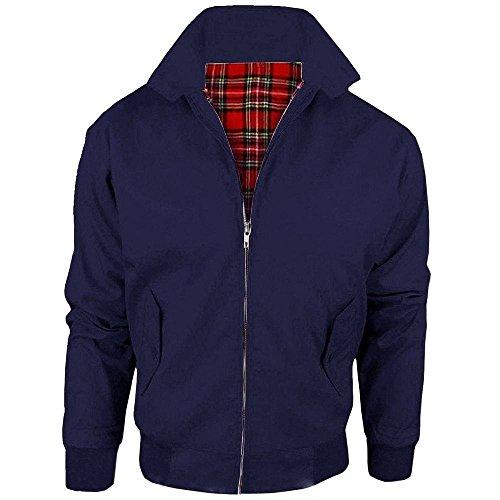 Kids Unisex Boys Classic British Harrington Jacket Coat Top Navy