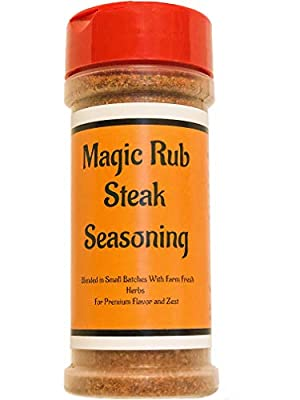 MAGIC RUB Steak Seasoning | Crafted in Small Batches with Farm Fresh Herbs for Premium Flavor and Zest