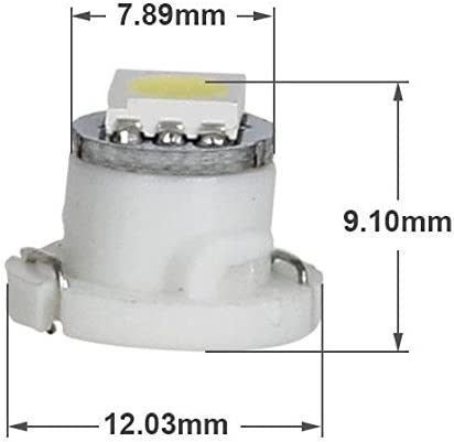 Partsam 10pcs White T4.7//T5 Neo Wedge Heater A//C Controls LED Light 5050-SMD 12V 12mm Lamp