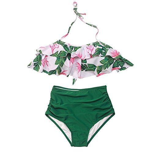 Baby Girls Bikini Set Swimsuit Two Pieces Family Matching Mother Girl High Waisted Swimwear