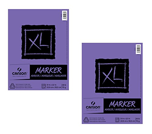 Canson XL Series Marker Pad, 9''X12'' Fold Over (2 Pack) by Canson