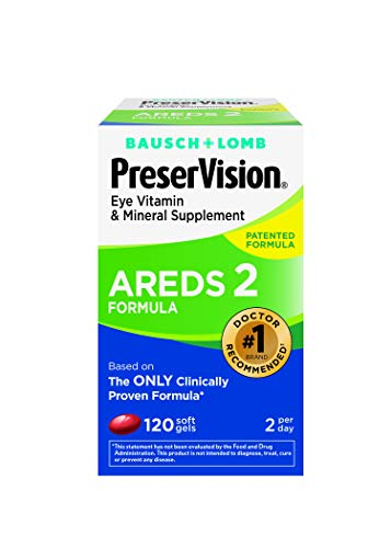 PreserVision AREDS 2 Vitamin & Mineral Supplement 120 Count Soft Gels, Packaging May Vary from PreserVision