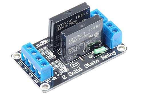 KNACRO 12V 2-Channel Low Level Solid State Relay modules Solid State relays with Fuse 240V 2A Low-Level Trigger ()