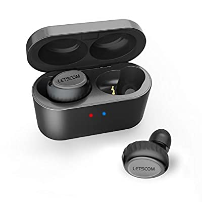 Wireless Earbuds, LETSCOM True Wireless Stereo Bluetooth Headphones, 3D Stereo Sound in-Ear Earbuds, Bluetooth 5.0 Earphones with Portable Charging Box