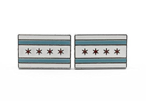 Chicago City Flag Cufflinks