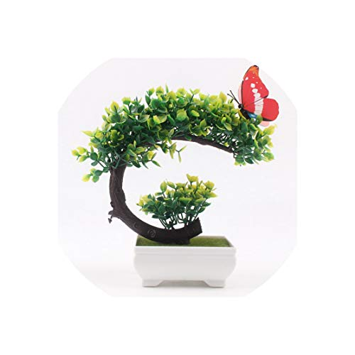 Artificial Trees Bonsai Small Tree Pot Plants Fake Flowers Potted Ornaments for Home Decoration Hotel Garden Decor,Deep Pink