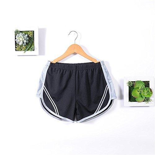 Kukul Mujer Pantalones cortos deportivos Corriendo Pantalones deportivos Pantalones cortos Quick Dry Yoga Pantalones cortos deportivos Negro