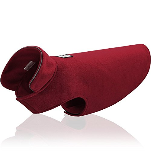- Fleece Dog Coat Reflective Cold Weather Dog Jacket Apparel for Extra Large to Small Pets(Red,S)