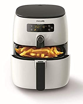Philips HD9641/90 Avance Collection Airfryer - Freidora baja en grasa, 1425W, 0,8 kg, 200 °C, Solo, Botones, Giratorio, Blanco: Amazon.es: Hogar