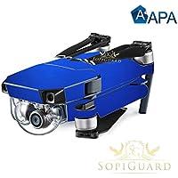 SopiGuard APA Royal Blue Satin Precision Edge-to-Edge Coverage Vinyl Skin Controller Battery Wrap for DJI Mavic Pro