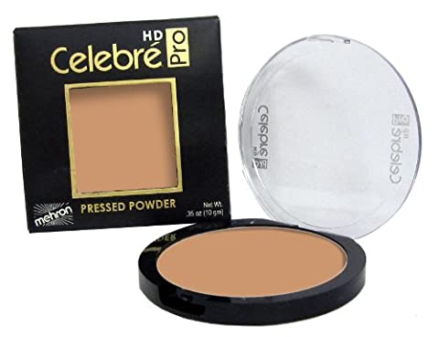 Mehron Makeup Celebre Pro-HD Pressed Powder Face & Body Makeup, MEDIUM DARK 1 - .35oz - Lip Colour Loreal Infallible 1 Kit