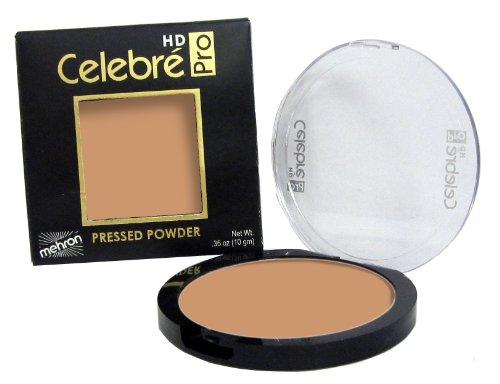 Mehron Makeup Celebre Pro-HD Pressed Powder Face & Body Makeup, MEDIUM DARK 3 - .35oz - Clay Medium Dark Powder