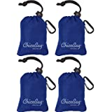 Reusable Shopping Tote / Grocery Bag by ChicoBag - 4 Pack - Blue