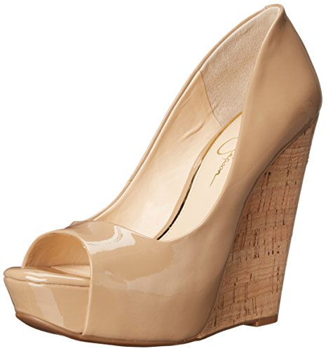 Jessica Simpson Women's Bethani Wedge Pump, Nude, 8 M US JS-BETHANI