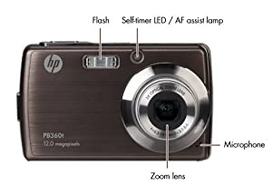 HP PB360 12 MP Digital Camera with 3-Inch Touchscreen LCD (Bronze) from Hewlett Packard