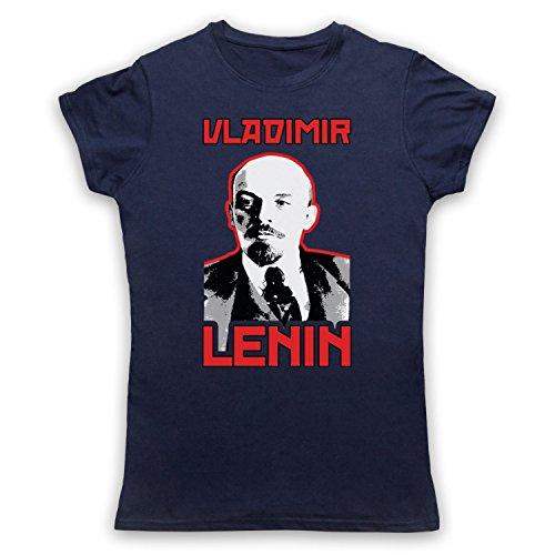 Vladamir Lenin Russia Revolutionary Camiseta para Mujer Azul Marino