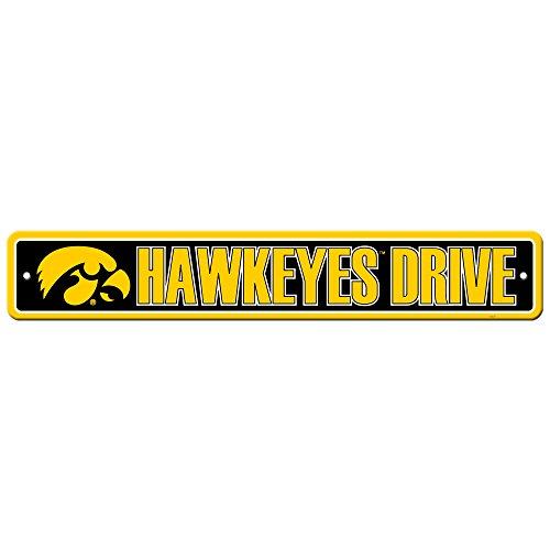Fremont Die NCAA Iowa Hawkeyes Street Sign, 4