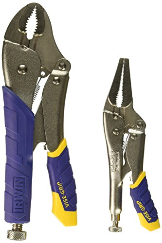 IRWIN INDUSTRIAL Tool 77T IRWIN INDUSTRIAL Fast-Release Long Nose Locking Pliers, 2-Piece Set