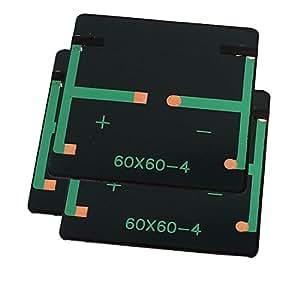 Sourcingmap–® 3stk 2V 0.18W polycry Establo Ine Silicon cabina de corriente del panel solar batería Cargador