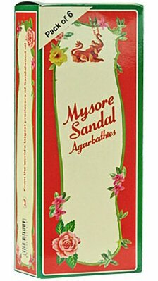 Sandal Incense Sticks - Mysore Sandal Incense - Six 20 Stick Tubes, 120 Sticks Total - From India