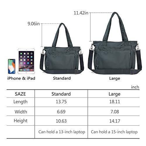 5f19ab80b95f ZOOEASS Men Women Fashion Large Tote Shoulder Handbag Waterproof ...