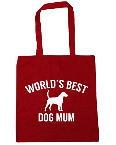 Shopping litres Tote Beach 10 dog Red x38cm World's 42cm HippoWarehouse Gym best mum Bag Classic x7q1wUF