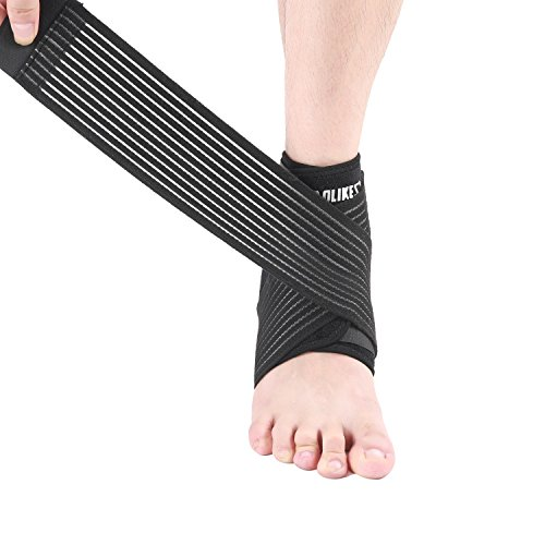 Ankle Brace Elastic Ankle Support Breathable Foot Ankle Brace Left/Right 1 Ankle Brace Sprain (Ankle Right Foot)