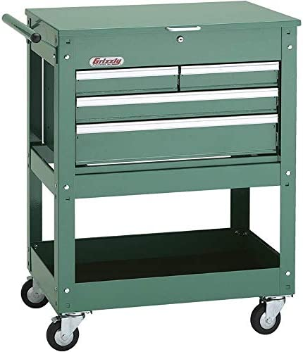 Grizzly Industrial H7728 – Rolling Tool Cart w 4 Drawer Tool Chest