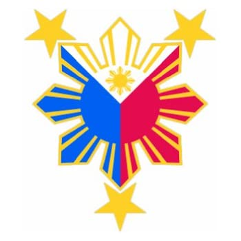 amazoncom filipino pride star sun color sticker