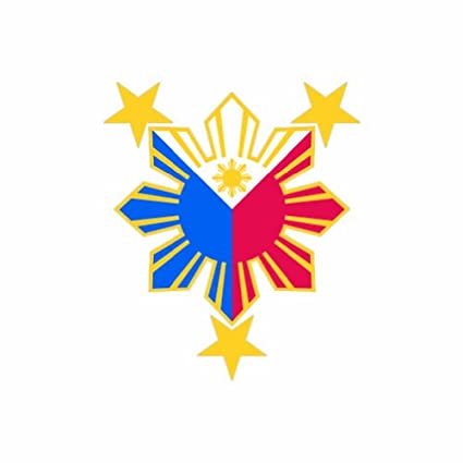 Filipino pride star sun color sticker decal die cut