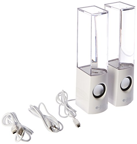 E-joy Music Dancing Water Speakers: Dancing Water Show Fountain Speakers (White)