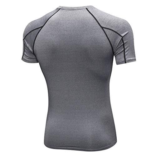 Gris Fitness Sportswear Rapide Amlaiworld De Sports T Tops Séchage shirt Blouse Workout Sport Tenue Homme 7Ix6q8wZ