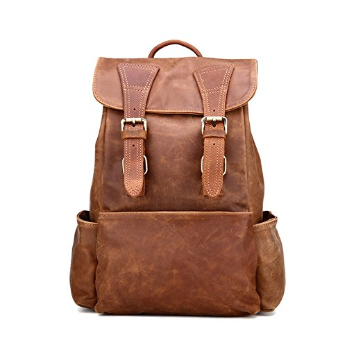TOREEP Women's Vintage Leather Backpack Casual Daypack for Ladies and Girls by TOREEP