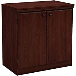 South Shore Small 2-Door Storage Cabinet with Adjustable Shelf, Royal Cherry