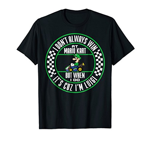 Nintendo Mario Kart Winning As Luigi Graphic T-Shirt