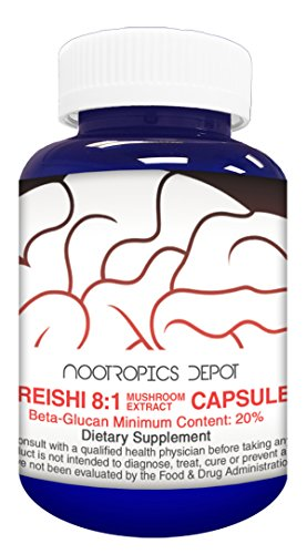 Cheap Red Reishi Mushroom Capsules | 8:1 Whole Fruiting Body Extract | 500mg | 60 Count | Ganoderma lucidum