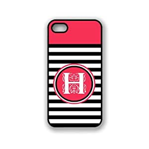 Black Stripes H Monogram iPhone 5 & 5S Case - Fits iPhone 5 & 5S